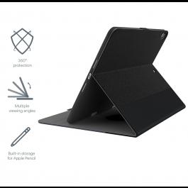 Ètui Cygnett TekView Slim pour iPad 10.2'' (2019) avec support  pour Apple Pencil- Gris/Noir